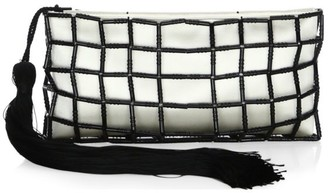 Carolina Santo Domingo Stella Beaded Silk Clutch