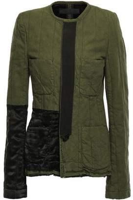 Haider Ackermann Satin-paneled Cotton-canvas Jacket