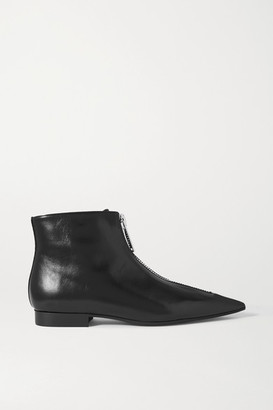 Stella McCartney Zipit Vegetarian Leather Ankle Boots - Black