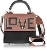 Les Petits Joueurs Baby Alex Black Widow Patent Leather Satchel Bag
