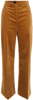 ALEXACHUNG Cotton-blend Corduroy Wide-leg Pants