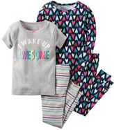 Carter's Toddler Girl 4-pc. Graphic & Print Pajama Set