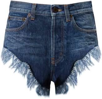 Saint Laurent Fringed Detail Shorts