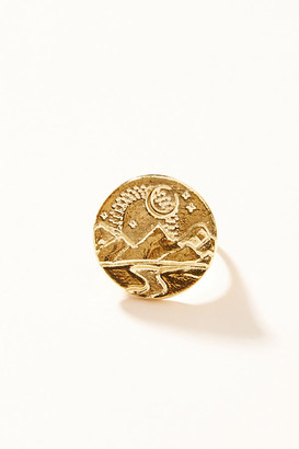 Studio Grun Forest Signet Ring By Studio Grun in Gold Size 6