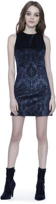 Alice + Olivia Clyde Velvet Mini Dress