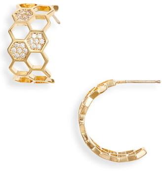 Bracha Honeycomb Hoop Earrings