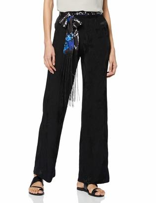 Desigual Women's Pant_glyfada Trouser Black (Negro 2000) 10 (Size: 36)