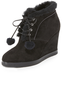 Michael Kors Chadwick Pom Pom Wedge Booties