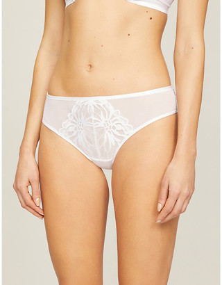 Chantelle Shadows stretch-lace tanga briefs