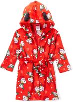 Komar Kids Peanuts Red Hooded Robe - Toddler