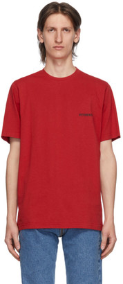 Vetements Red Logo Front Back T-Shirt
