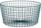 CB2 Gridlock Blue-Green Basket