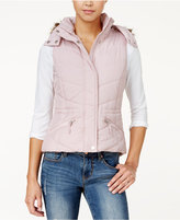 American Rag Faux-Fur-Trim Hooded Puffer Vest, Only at Macy's