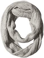 Sofia Cashmere Women's 100 Percent Cashmere Cable Seed Stitch Infinity Scarf