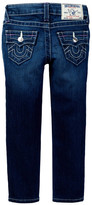 True Religion Natural Single End Skinny Jean (Toddler & Little Girls)