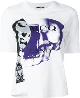 McQ by Alexander McQueen printed asymmetric front T-shirt - women - Cotton - M