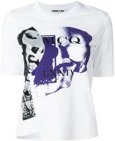 McQ by Alexander McQueen printed asymmetric front T-shirt - women - Cotton - S