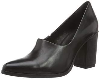 Bianco Women's Inn. High Front Pump 24-49129 Closed Toe Heels, (Black)