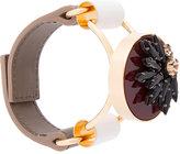 Marni floral crystal cuff bracelet