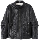 LJYH Boys Faux Leather Jacket Children's Clothing Baby Collar Zipper PU Coat