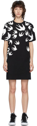 McQ Black Swallow T-Shirt Dress