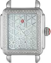 Michele Women's Deco Diamond 18mm Layered Diamond Dial Silver