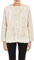 Barneys New York Women's Mixed-Fur Coat-TAN