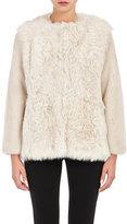Barneys New York Women's Mixed-Fur Coat-TAN