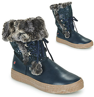 GBB NOUSTIK girls's Mid Boots in Blue