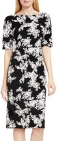 Vince Camuto 'Delicate Foliage' Print Scuba Sheath Dress