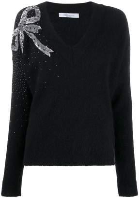 Blumarine Bow embellished jumper