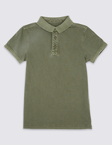 Marks and Spencer Pure Cotton Polo Shirt (3-14 Years)