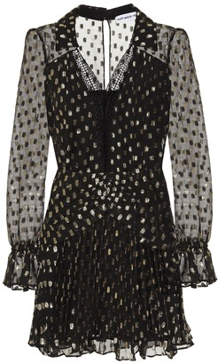 Self-Portrait Polka-dot fil-coupe minidress