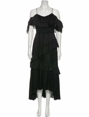Ulla Johnson Silk Long Dress Black