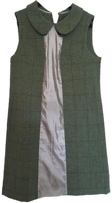 Comme des Garcons Green Wool Dresses