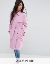 Asos Bonded Trench with Contrast Trims