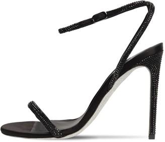 Rene Caovilla 105mm Embellished Leather & Satin Sandal