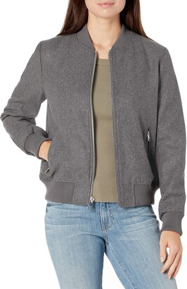 Levi's Women's Wool Blend Rib Knit Bomber Jacket