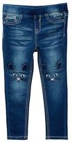 Vigoss Embroidered Knee Skinny Jean (Toddler Girls)