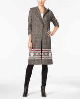 Style&Co. Style & Co. Hooded Duster Cardigan, Only at Macy's