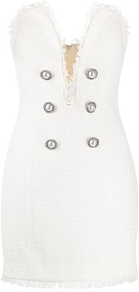 Giuseppe di Morabito Tweed Button-Embellished Dress