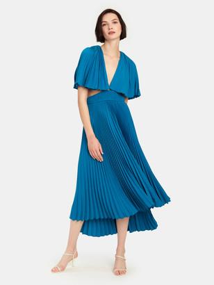 AMUR Dara Pleated Midi Dress