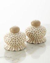 Coton Colors Small-Dot Ruffle Salt & Pepper Shaker Set