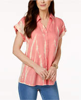 Style&Co. Style & Co Tie-Dye-Print High-Low Shirt, Created for Macy's