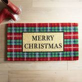 Pier 1 Imports Plaid Merry Christmas Doormat