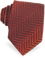 Missoni Diagonal Stripe Woven Silk Narrow Tie