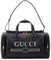 Gucci Print leather travel bag