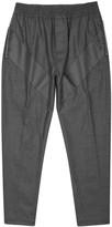 Givenchy Grey Appliquéd Wool Blend Jogging Trousers