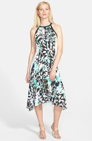DKNY DKNYC Colorblock Print Sleeveless Fit & Flare Dress