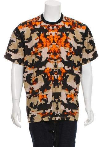 Givenchy Camo Fire Print T-Shirt